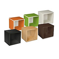 image of Way Basics Tool-Free Assembly zBoard paperboard Stackable Storage Cube
