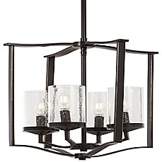 image of Minka Lavery® Elyton Downton 4-Light Ceiling Mount Pendant in Bronze