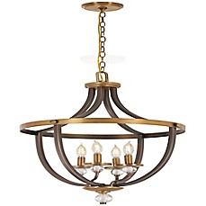 image of Minka-Lavery® Safra 4-Light Semi-Flush Mount Ceiling Light in Bronze