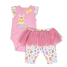 image of Sterling Baby 2-Piece Cute Chick Bodysuit and Tutu Pant Set in Pink