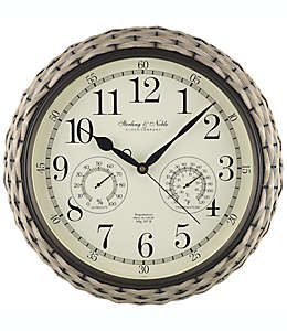Reloj de pared Sterling & Noble trenzado para interiores/exteriores