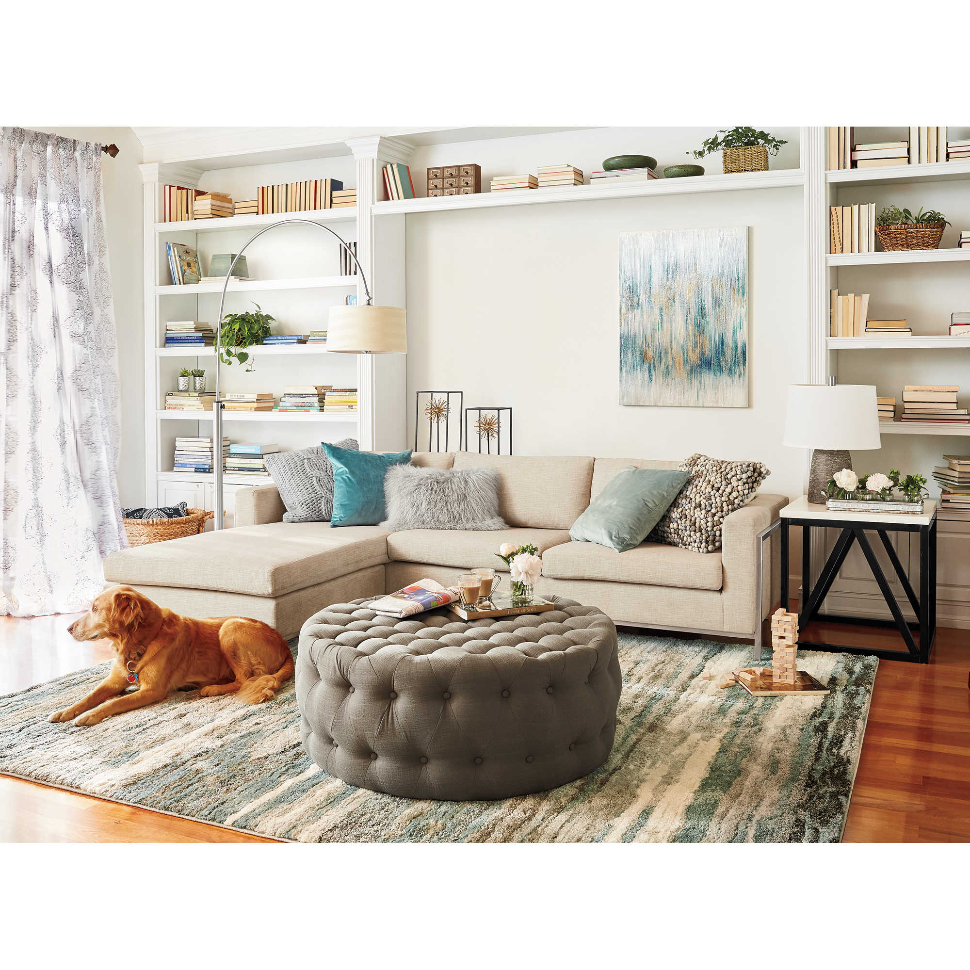 Neutral Living Room - Bed Bath & Beyond