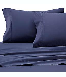 Heartland® HomeGrown™ Set de sábanas queen de satén liso de 400 hilos en azul mezclilla