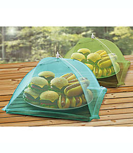 Cubiertas de malla para alimentos en verde y azul, Set de 2