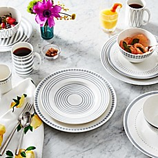 image of kate spade new york Charlotte Street™ Dinnerware Collection in Slate