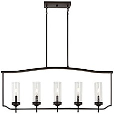 image of Minka-Lavery® Elyton 5-Light Island Light in Downtown Bronze