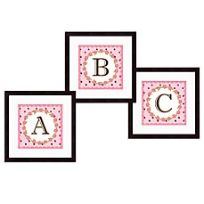 image of Monogram Rose Initial Wall Art