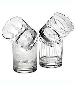 Vasos de vidrio Mikasa® Cheers dobles de corte antiguo, Set de 4