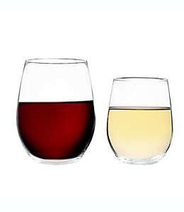 Copas de vino sin tallo de vidrio Riedel® O Cabernet/Merlot + Viognier/Chardonnay, Set de 4 pzas.