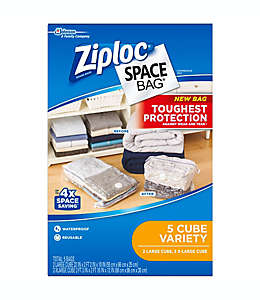 Bolsas para almacenamiento de polietileno Space Bag® Ziploc®, Set de 5