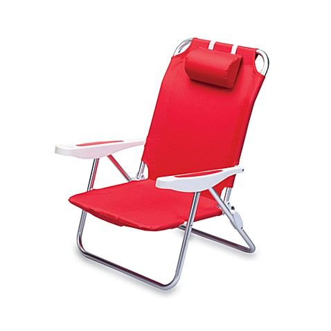 Picnic Time® Monaco Beach Chair in Red