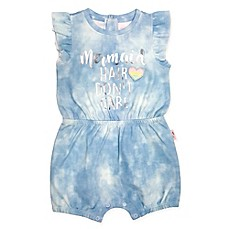 "image of Mini Heroes 2-Piece ""Mermaid Hair"" Romper and Headband Set"