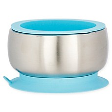 image of Avanchy Stainless Steel Baby Bowl with Silicone Suction Ring and Lid