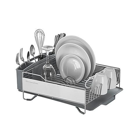 Kitchenaid 174 Full Size Dish Rack In Light Grey Bed Bath