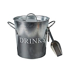 image of Mind Reader Metal Ice Bucket with Scooper in Silver