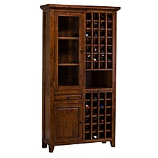 Image Of Hillsdale Tuscan Retreat® Tall Wine Storage Cabinet In Antique Pine