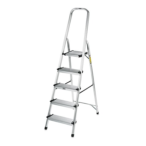 image of Polder® 5-Step Ultra Light Step Ladder in Aluminum  sc 1 st  Bed Bath \u0026 Beyond & Ladders \u0026 Stepstools - Bed Bath \u0026 Beyond islam-shia.org