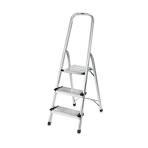 Polderu0026reg; 3-Step Ultra Light Step Ladder in Aluminum  sc 1 st  Bed Bath u0026 Beyond : cosco steel step stool 3 step - islam-shia.org