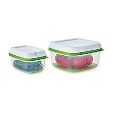 image of Rubbermaid® FreshWorks™ 4-Piece Produce Saver Containers