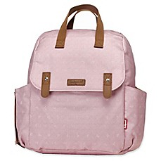 image of BabyMel™ Robyn Convertible Diaper Bag in Dusty Pink