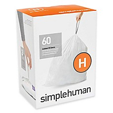 image of simplehuman® Code H 30-35-Liter Custom-Fit Liners in White