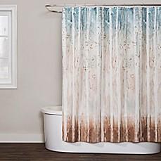 Saturday Knight Woodland Walk Shower Curtain In Blue