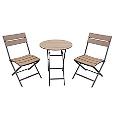 Metro 3 Piece Folding Outdoor Bistro Set