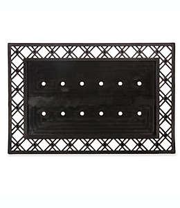 Base para tapete de entrada de goma Evergreen, 60.96 x 91.44 cm color negro