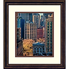 image of Amanti Art City Life 14-Inch x 15-Inch Framed Wall Art