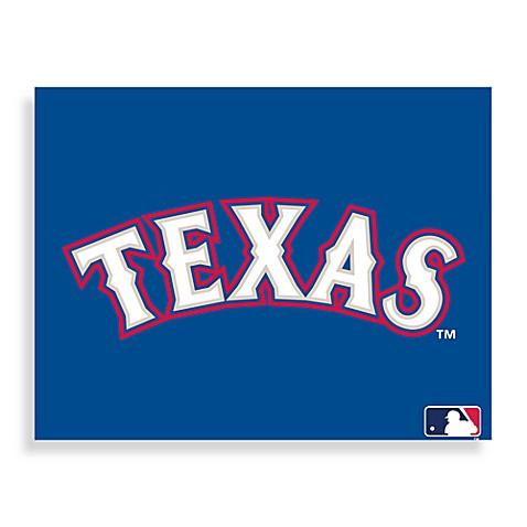 MLB Texas Rangers Logo Canvas Wall Art - Bed Bath & Beyond