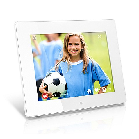 Aluratek 8-Inch WiFi Digital Photo Frame in White with Touchscreen ...