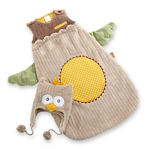"Baby Aspen ""Little Night Owl"" Snuggle Sack and Cap"