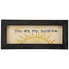 "image of Primitives by Kathy® ""You Are My Sunshine"" Framed Stitchery Wall Art"