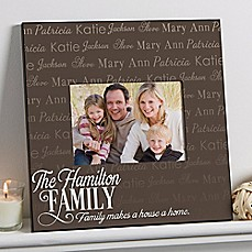 image of Family is Love 5-Inch x 7-Inch Wall Picture Frame