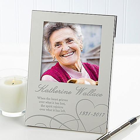 Remembering...Memorial 4.5-Inch x 6.5-Inch Picture Frame in Silver ...