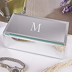 image of Reflections Engraved Mirrored Jewelry Box