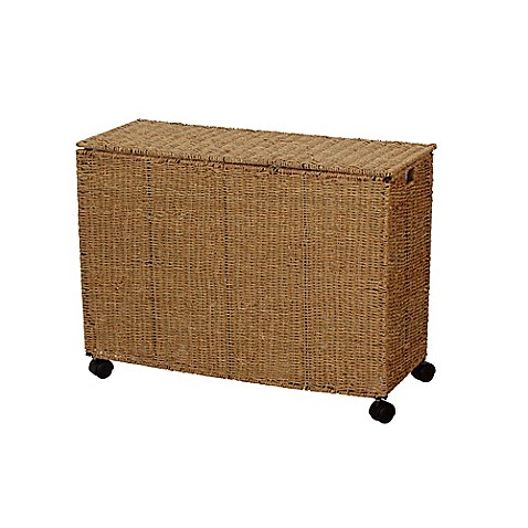 Buy Household Essentials™ Seagrass Triple Laundry Sorter w ...
