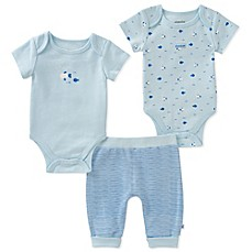 image of Absorba® 3-Piece Fish Bodysuit and Pant Set in Blue