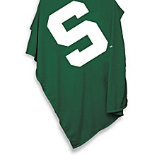image of NCAA Michigan State 54-Inch x 84-Inch Sweatshirt Throw Blanket