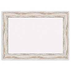 image of Amanti Art Cork Board with Alexandria Whitewash Frame in White