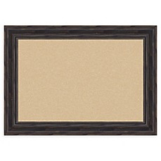 image of Amanti Art Rustic Narrow Cork Board with Frame in Pine