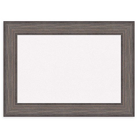 Amanti Art White Cork Board with Country Barnwood Frame in Rustic ...