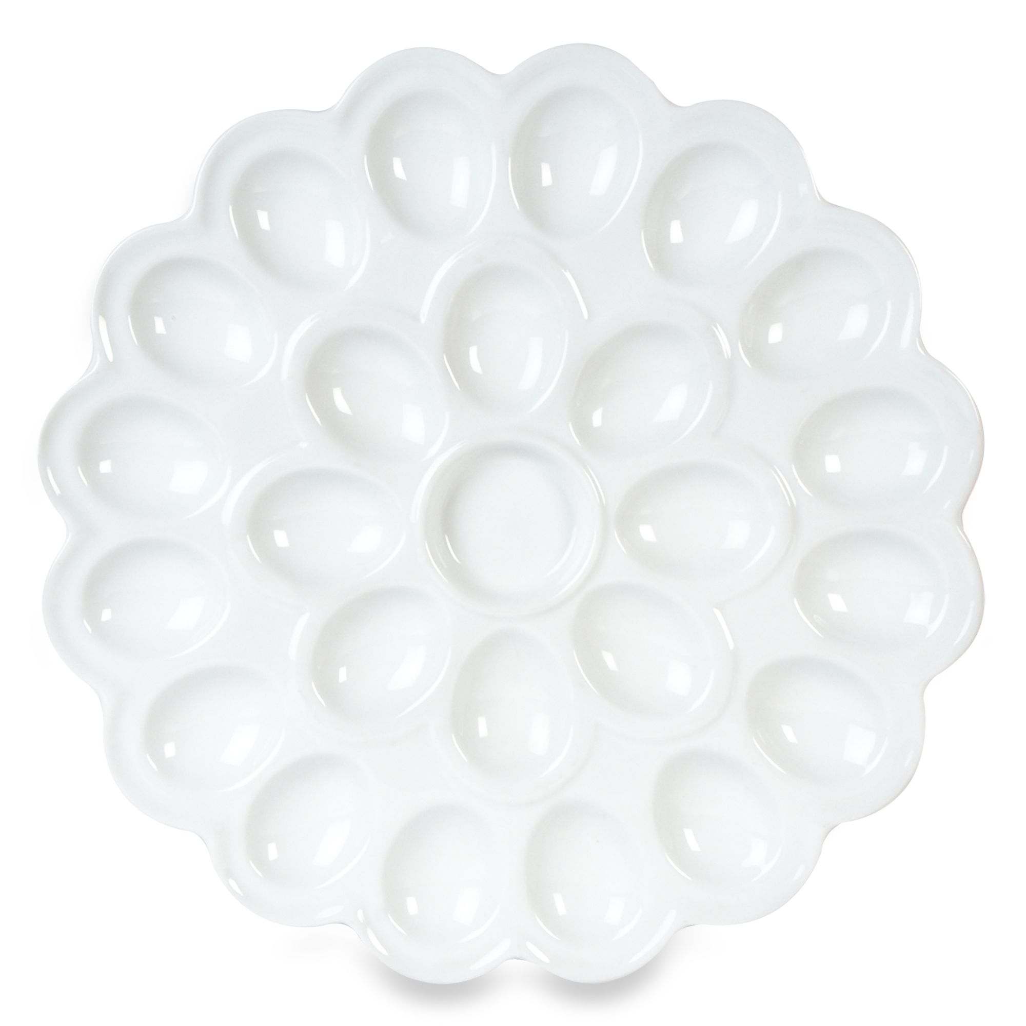 everyday white by fitz and floyd flower egg platter bed bath