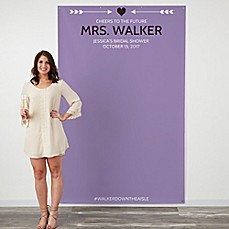image of Modern Heart 58-Inch x 90-Inch Photo Backdrop