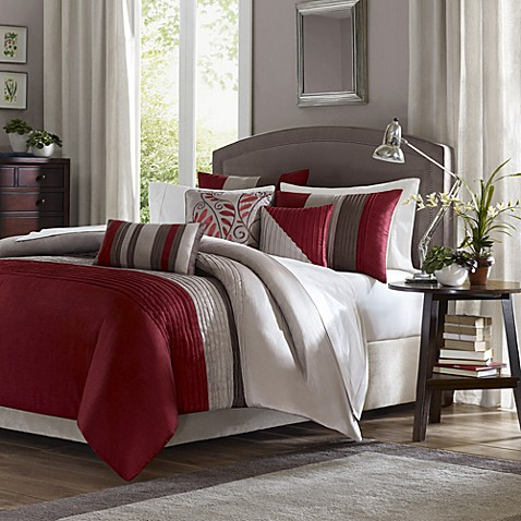 Buy Tradewinds Full Queen 6 Piece Duvet Cover Set In Red From Bed Bath