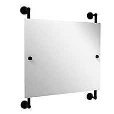 image of Allied Brass Waverly Place Landscape Rectangular Frameless Rail Mounted Mirror