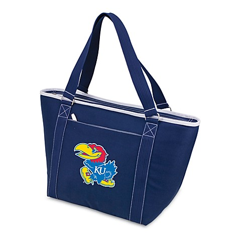 Picnic Time® University of Kansas Collegiate Topanga Cooler Tote in Navy Blue