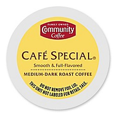 image of 18-Count Community Coffee® Café Special® Coffee for Single Serve Coffee Makers