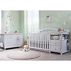 Sorelle Berkley Crib/Changer Nursery Furniture Collection In White