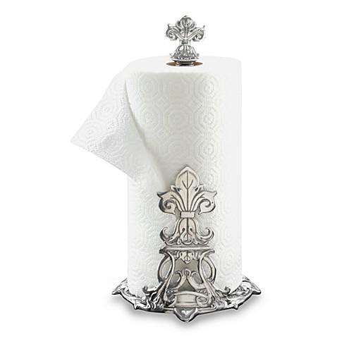 Arthur court designs fleur de lis paper towel holder bed bath beyond - Fleur de lis bath towels ...